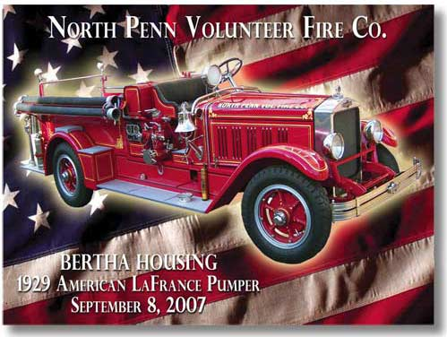 North Penn Volunteer Fire Dept. Dash Plaque