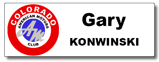 Gary Konwinski AMC Club Name Tag