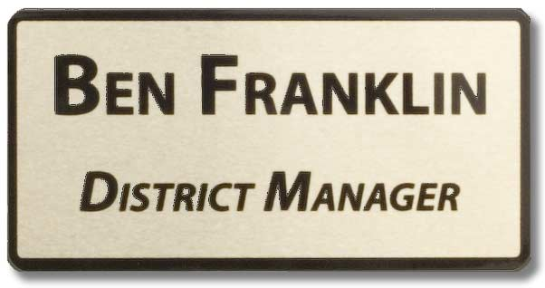 District Manager Name Tag