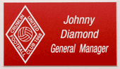Football Club Engraved Nametag