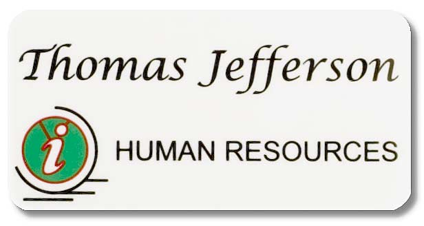 Human Resources Name Tag