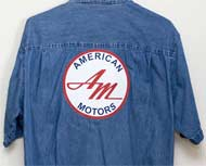 American Motors Logo on Denim Shirt